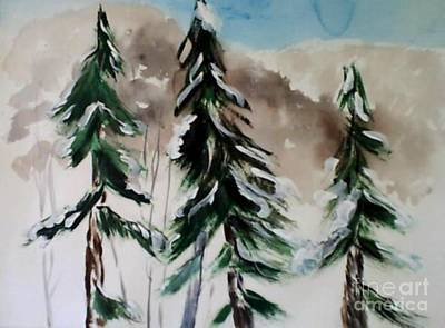 Painting - Tree Tops In The Winter by B L Qualls