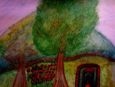 Red Painting - Tree2 by Stephanie Zelaya
