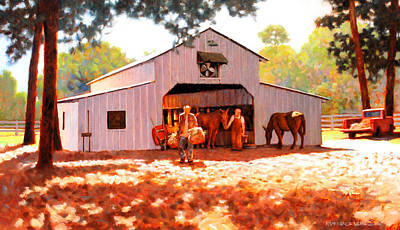 Treece Barn Print by Kevin Lawrence Leveque