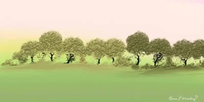 Treeline Print by Gina Lee Manley