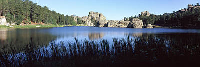 Land Feature Photograph - Trees Around The Lake, Sylvan Lake by Panoramic Images