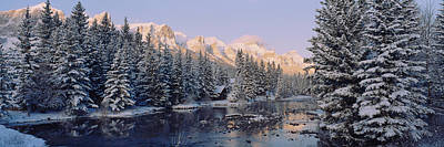 Reflections In River Photograph - Trees Covered With Snow, Policemans by Panoramic Images