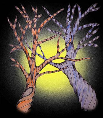 Creativity Drawing - Trees by Marketa Kostrova
