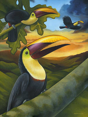 Treetop Toucans Original by Nathan Miller
