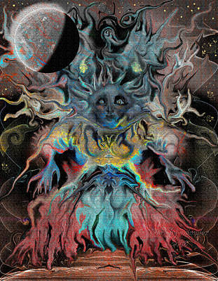 Anger Digital Art - Treewoman Awakens by Mimulux patricia no