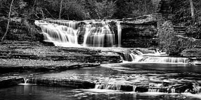 Finger Lakes Photograph - Treman Cascades #3 by Stephen Stookey