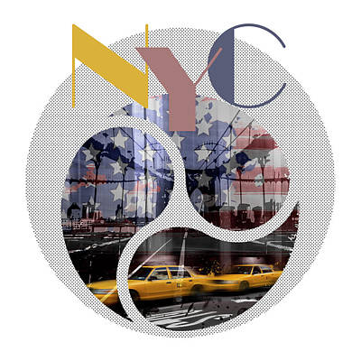 Nyc Digital Art - Trendy Design New York City Geometric Mix No 2 by Melanie Viola