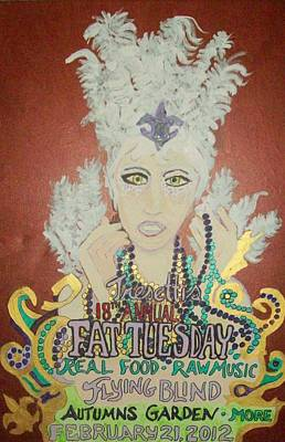 Acylic Painting - Tresettis Fat Tuesday Festival 2012 by James Christiansen