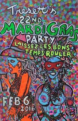 Modesto Painting - Tresetti's Mardi Gras Party 2016 by James Christiansen