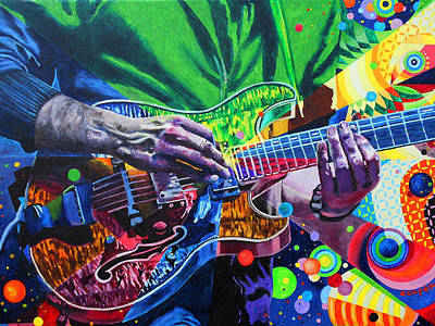 Rock And Roll Painting - Trey Anastasio 4 by Kevin J Cooper Artwork