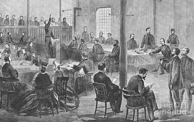 Trial Of Lincoln Assassins, 1865 Print by Photo Researchers