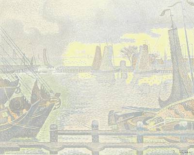 Proofs Painting - Trial Proof Of The Harbour Of Volendam by Celestial Images