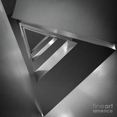 Staircase Photograph - Triangular by Inge Johnsson