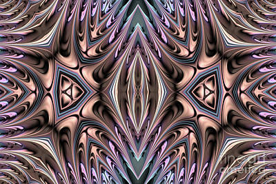 Abstract Shapes Digital Art - Trias by John Edwards
