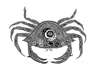 Tribal Crab Original by Carol Lynne