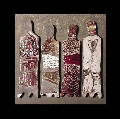 Ceramic Mixed Media - Tribal Rhythms by Bates Clark