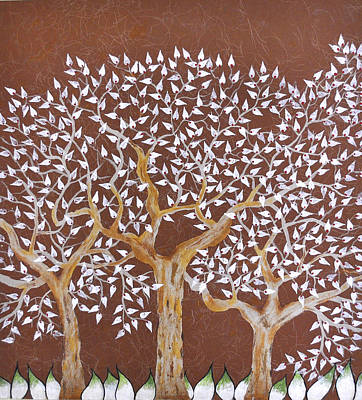 Trees Painting - Tribhovan by Sumit Mehndiratta
