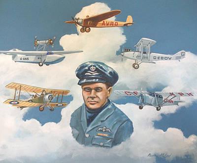 Aviator Painting - Tribute To Bert Hinkler by Murray McLeod