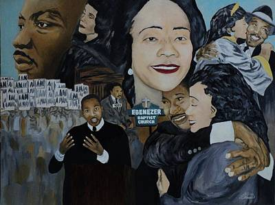 Civil Rights Painting - Tribute To Dr Martin Luther King Jr by Angelo Thomas