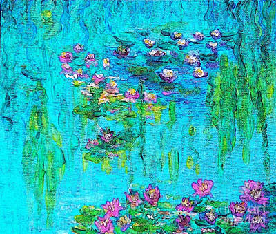 Tribute To Monet Print by Holly Martinson