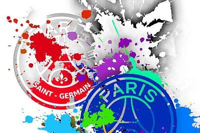 Paris Digital Art - Tribute To Paris Sain Germain .3 by Alberto RuiZ
