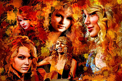 Taylor Swift Painting - Tribute To Taylor Swift by Alex Martoni