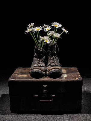 Flower Memorial Photograph - Tribute To The Fallen by Aaron Aldrich