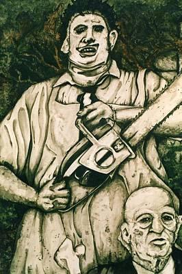 Tribute To The Texas Chainsaw Massacre Print by Sam Hane