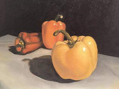 Still Life Painting - Tricolor by Margaret Marzullo
