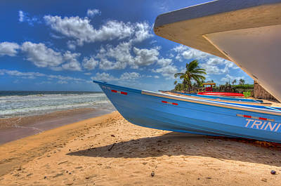 Seascape Photograph - Trinidad Fishing Boats by Nadia Sanowar