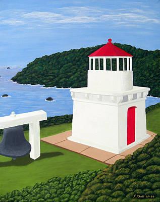 Historic Lighthouse Images Painting - Trinidad Head Lighthouse by Frederic Kohli