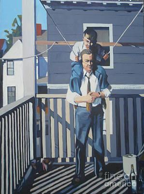 Southie Painting - Triple Decker Derby by Deb Putnam