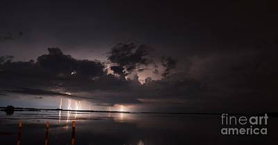 Lightning Photograph - Triple Double by Quinn Sedam