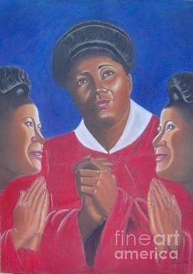 Mahalia Jackson Pastel - Triple Faces Of Mahalia Jackson by Booker Lambouths