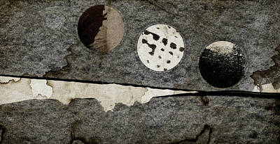 Torn Mixed Media - Triple Lunacy Abstract 1 by Carol Leigh