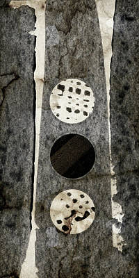 Triple Lunacy Abstract 2 Print by Carol Leigh