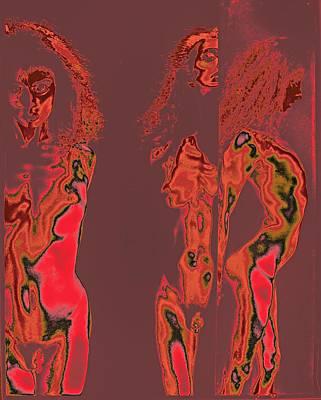 Triplets / 2 Print by Jean-Marie Bottequin