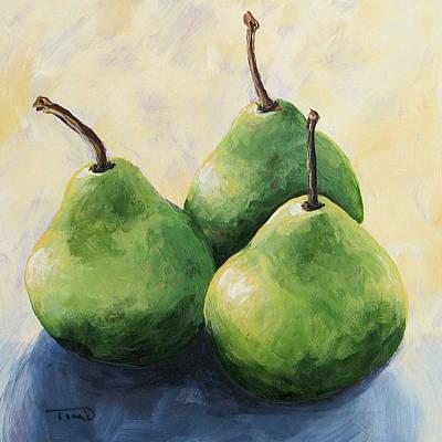 Pears Painting - Triplets by Torrie Smiley
