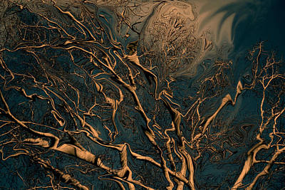 Trippy Tree Print by Linda Sannuti