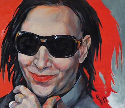 Manson Painting - Triptych Marilyn Manson. Left Part. by Inna Volvak