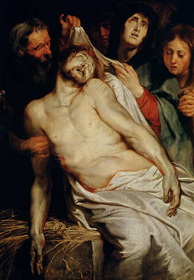 God Body Painting - Triptych Of Christ On The Straw by Rubens