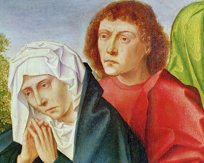 Crying Painting - Triptych Of The Crucifixion by Gerard David