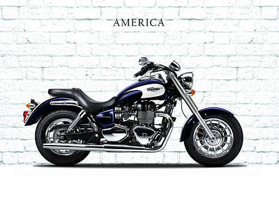 Motorcycle Photograph - Triumph America by Mark Rogan