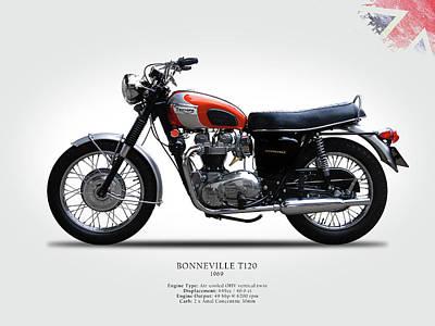 Motorcycle Photograph - Triumph Bonneville 1969 by Mark Rogan