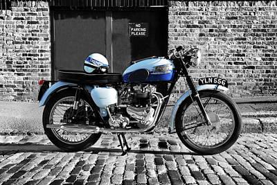 Vintage Motorcycle Photograph - Triumph Bonneville T120 by Mark Rogan