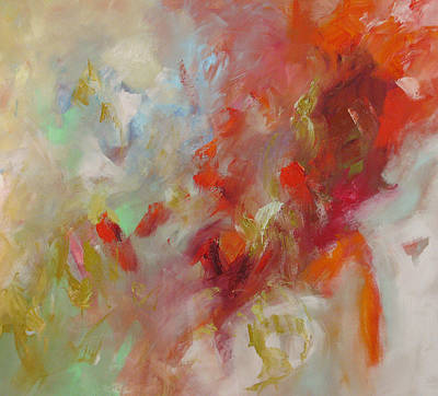 Acrylic Abstract Painting - Triumph by Linda Monfort