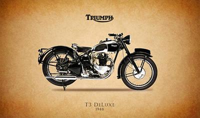 Triumph T3 De Luxe 1948 Print by Mark Rogan
