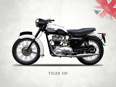 Tiger Photograph - Triumph Tiger 110 1959 by Mark Rogan