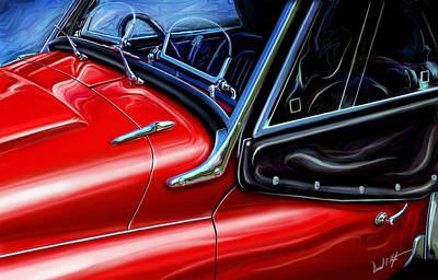 Tr Painting - Triumph Tr-3 Sports Car Detail by David Kyte