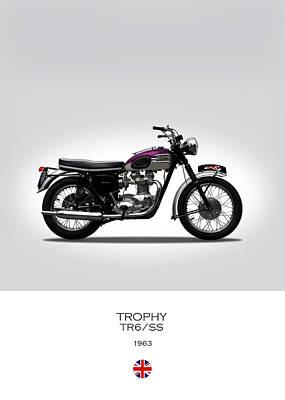 Motorcycle Photograph - Triumph Trophy 1963 by Mark Rogan